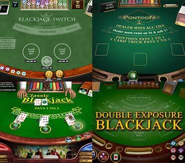 Verschillende Blackjack varianten