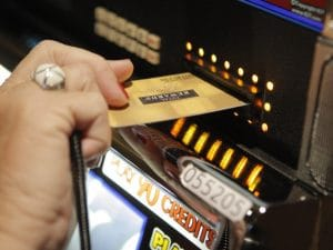 Loyalty Card in een slotmachine