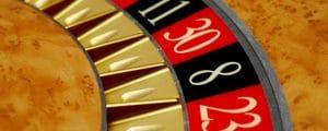 Roulette wiel met aflopende pockets